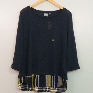 New York & Company Layered Sweater Size XL